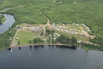 Arial photo of Kab Lake Lodge's campground located in 15B
