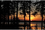 Kabitotikwia Lake sunset, a Northwestern Ontario hunting lodge.
